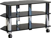 Optimum Fusion LCD-8003-SLB Glass TV Stand