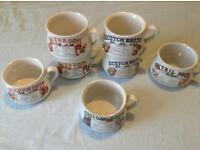 Retro 1970s soup mugs