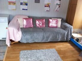 2 and 3 seater red sofas £30