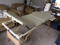 Cream massage table