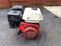 OHV 6.5 hp petrol Honda engine. 6 litre for generator or pump. Good order.