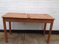 Old School Solid Wood Double Desk