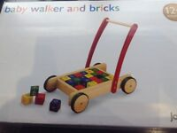 Brand New Baby Walker with bricks