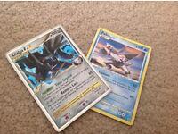 Pokemon trading cards Holographic Dialga X +palkia .
