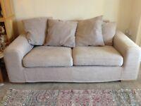 Light Brown 2 seater sofa