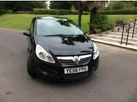 56 VAUXHALL CORSA DESIGN PETROL BLACK COLOUR WITH 42,000 MILE SERVICE HISTORY TILL 37565 MILE.