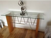 Contemporary console table and matching side table