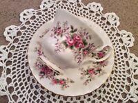 Royal Albert Lavender Rose Bone China Tea Cup and Saucer.