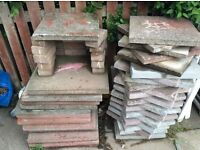 "Garden slabs for sale , I have 52 2 x 2 "" garden slabs plus o couple of broken 1's"