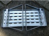 Caravan or Motorhome fold away step in metal