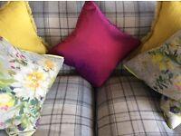 Almost new John Sankey handmade sofa, Tweed fabric, grey tones
