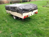 Trailer with Cover Ideal Tip Run with Good Tyres and Spare Wheel