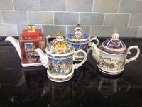 Selection of Sadler Christmas teapots