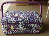 Small sewing box, purple. Well made quality item. Never used. As new. Ideal for gift.