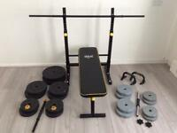 Weights bench and dumbbells £140