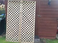 2 Brand New Trellis Sections - 5ft 11 inch height X 2ft width approx