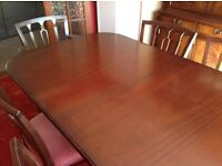 Bartlett dining room table and chairs