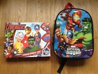 Avengers Face Paint and Rucksack