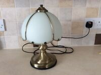 TOUCH LAMP IN ANTIQUE BRONZE (LIKE NEW)
