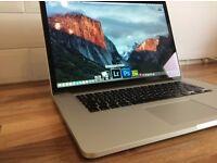 "15"" Macbook Pro Retina - 2.5GHz i7 - 16 Gig Ram - 500 Gig SSD - Warranty until April 2018"