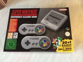 SNES Mini console, brand new, bought from Argos on a preorder.