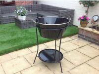 Large Ice bucket with stand and tray...Unused