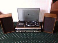 ITT vintage record player and cassette deck