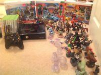 XBox 360, Contollers, 9 Games, 3 Box Sets, 50 plus Disney /Skylande Game Figures