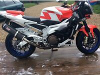 Aprilla tuno red 1000 cc fited all the trick bits new tyres