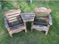 Childs garden chair set