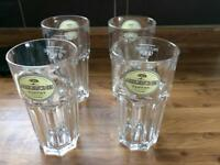 Pint glasses x 4 'Addlestone' cloudy