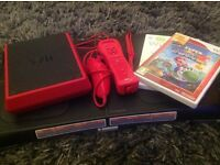 Nintendo Wii package including Wii mini, Wii fit, controllers, Wii fit plus and Super Mario Galaxy 2