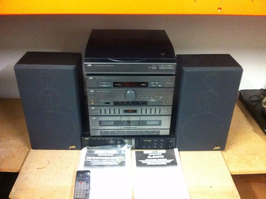JVC STEREO SYSTEMin Hythe, HampshireGumtree - JVC STEREO SYSTEM, GOOD CONDITION, PERFECT WORKING ORDER, COMES WITH JVC XL 330 CD PLAYER JVC DR E45L DOUBLE CASSETTE, AMPLIFIER, GRAPHIC EQUALISER JVC 2 WAY SPEAKERS JVC AL E45 AUTO RETURN TURNTABLE WITH REMOTE AND MANUALS