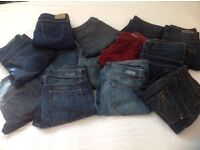 Men's jeans 32 waist, EU 40-44 (Gap, Topman Moto, Zara, H&M) x 13 - all for £100 or £5 each