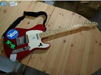 Red Fender Squire Telecaster