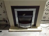 Electric Fireplace Fire Places Heater Surround Flame Effect Indoor Burning Heat