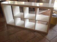 White ikea kallax bookcase/shelf £15