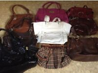 Assorted medium and large handbags
