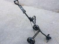 Lightweight aluminium golf trolley - as new