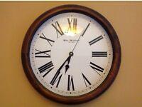 Dark wood large clock