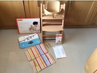 Stokke Tripp Trapp Highchair and Accessories (All in New Condition)
