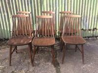 Six matching kitchen dining chairs