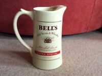 Bell's Scotch Whisky water jug by Wade. 2pt