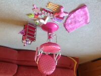 Our generation 18 inch doll hairdressing salon chair and accessories