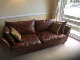 Caramel Brown Leather Sofa's