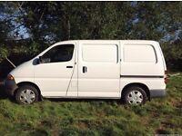 1999 White Toyota Hiace Van