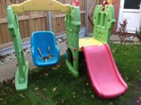 Little tikes baby swing and slide set