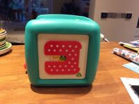 Baby activity cube with lights and sounds, early learning centre