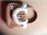 Rare faux fur small Radley handbag,