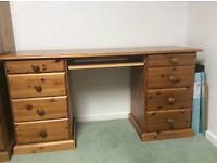 SOLID PINE DESK/DRESSING TABLE, G.C, A TOUCH OF PINE
